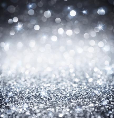 shiny: silver glitter - shiny wallpapers for Christmas Stock Photo