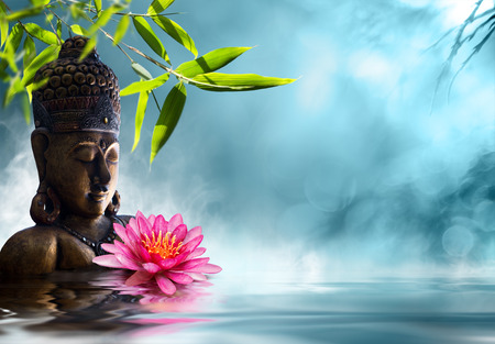 Buddha in meditation photo