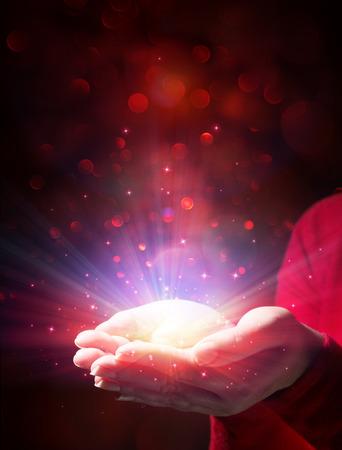 mystery of Christmas - giving light and magic Reklamní fotografie - 33091046