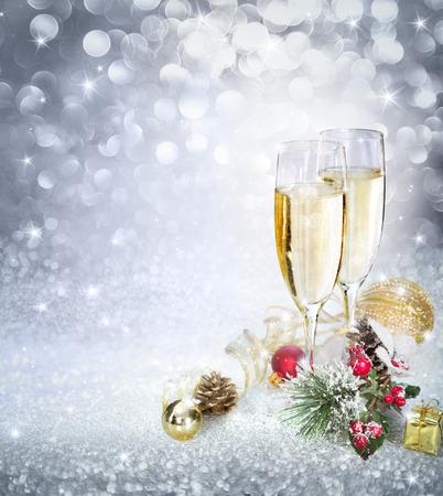 Viering met champagne Stockfoto
