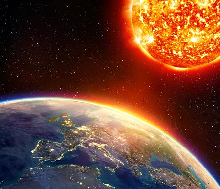 global warming: global warming in Europe - greenhouse