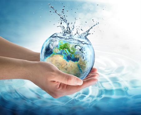 planeten: Gewässerschutz in Europa Lizenzfreie Bilder