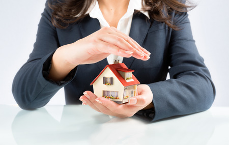 home insurance: insurance and protect concept of your own home Stock Photo