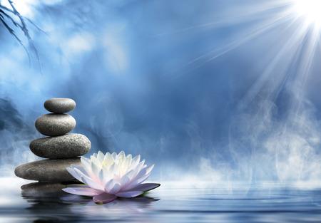 balanza: pureza del masaje del zen