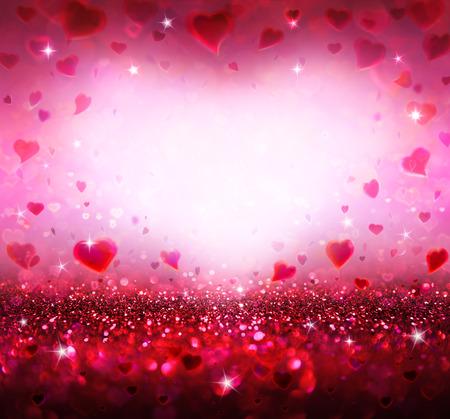 フライング ハート バレンタイン背景