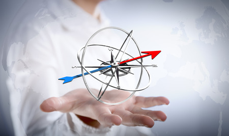 kompas: Strategie pro cíl vašeho podnikání Reklamní fotografie