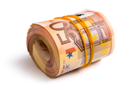 50 euro: seven thousand five hundred euro rolled