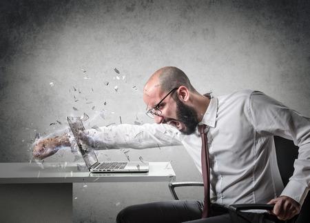 explosie van woede Stockfoto