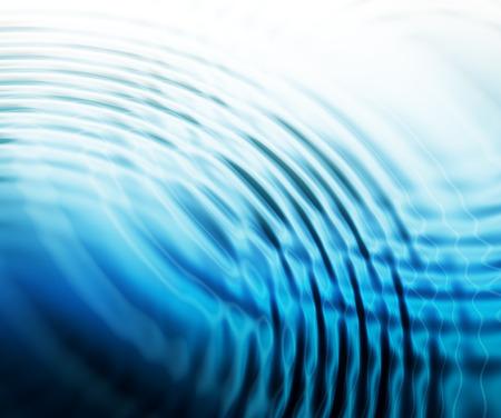 抽象的な水の波紋の背景 写真素材