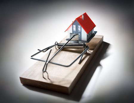 debt trap: trap estate  risk of mortgage on house