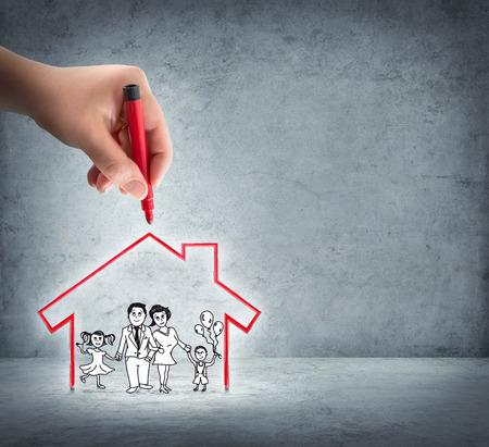 convivencia familiar: realización de su casa - ayudar a la familia