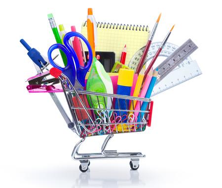 学校に戻る - ショッピングカートの学用品します。