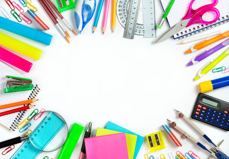 office supplies: back to School - School stationery framing for school and office