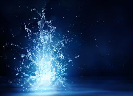 agua: brillar fuente - la fantasía del agua para el concepto de frescura - belleza en la naturaleza