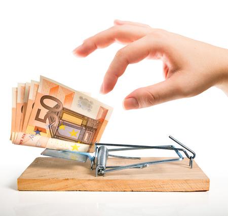 taking risks: money trap - euro bait