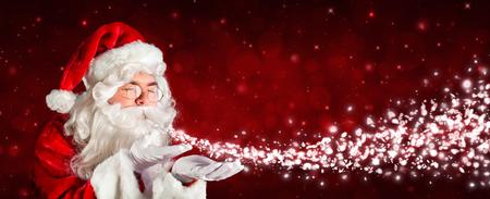 magics: Santa Claus Blowing Snow