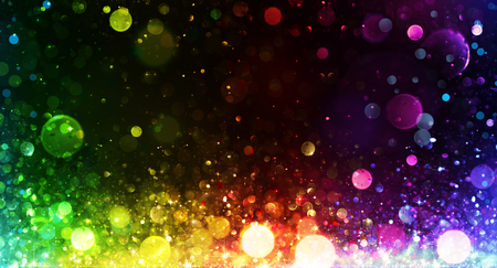 sparkle background: Rainbow of Lights - Party Background Stock Photo