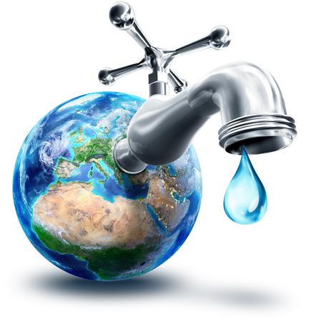 ヨーロッパとアフリカにおける水保全の概念 写真素材