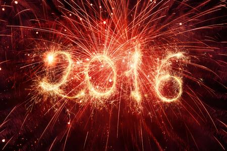 calendrier: 2016 �crit avec Fireworks