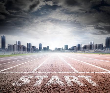 pista de atletismo: Inicio de negocios - Pista de carreras para el éxito