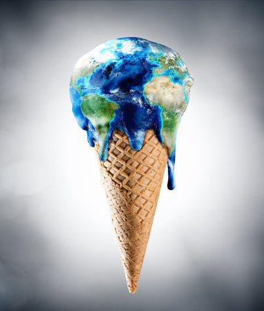 Ice Cream World - Climate Change Concept Stock Photo - 54425400