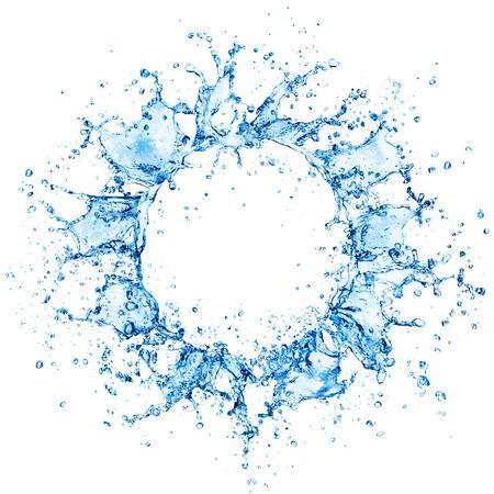 Cerchio di spruzzi d'acqua Archivio Fotografico - 57658667