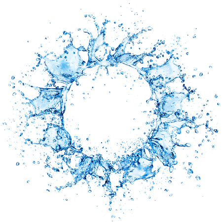 Circle Of Splashing Water Archivio Fotografico