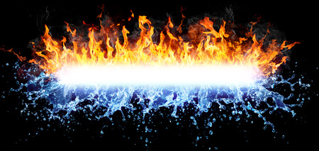 cold background: Fire And Water For Powerful Text-Message