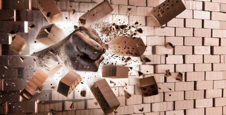 destroy: Fist Breaking Wall - Strength At Max Power
