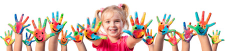 children art: Children In Creativity - Hands Painted With Smiles