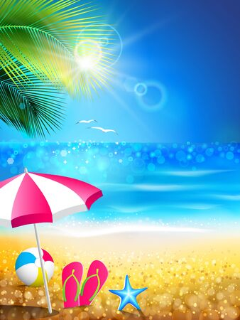 Summer holidays - relaxing to tropical beach