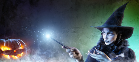 Magical Halloween - Witch Spell Stock Photo
