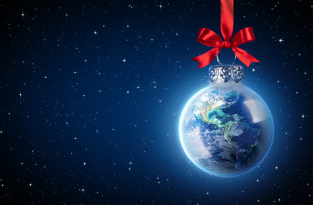 Peaceful Christmas All Over The World Standard-Bild