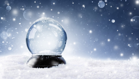 snow globe: Snow Globe - Christmas Magic Ball Stock Photo