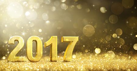 2017 - New Year Decoration - Greeting Card Standard-Bild