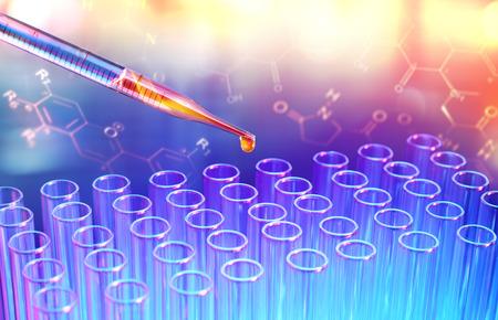 équipement: Tubes et pipettes d'essai - Recherche en laboratoire