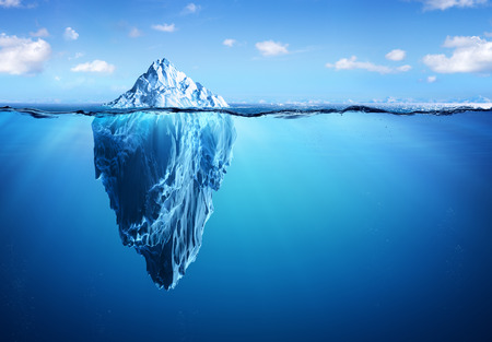 Iceberg - Hidden Danger And Global Warming Concept