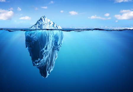 Iceberg - Verborgen gevaar en het globale opwarmingsconcept