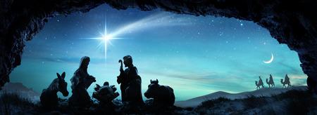 Geboorte Van Jezus - Scène Met De Heilige Familie