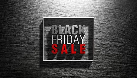 Black Friday Concept - 3D Text On Black Background Archivio Fotografico - 112126490