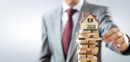 Instability In Real Estate Market Stok Fotoğraf