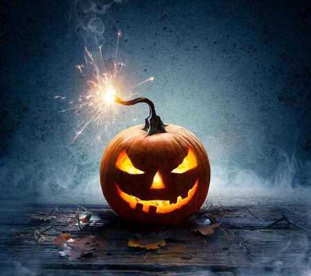 Explosive Halloween - Detonation Of Bomb Pumpkin