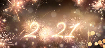 Happy New Years 2021 - Fireworks In The Sky