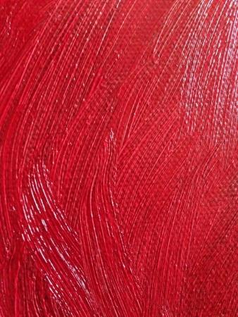 canvass: Pintura al �leo roja sobre tela de textura