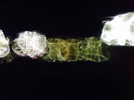 sumergido: Orbes verdes sumergidas