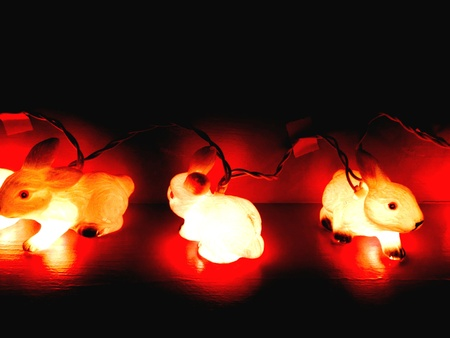 decor: Bunny ornamental light decor