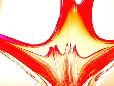 glass vase: Glass vase Italian red bleeding
