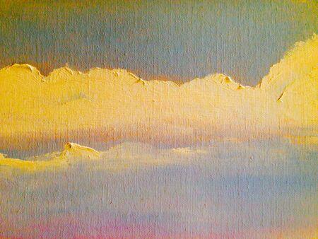 closeup: Clouds oil painting close-up texture