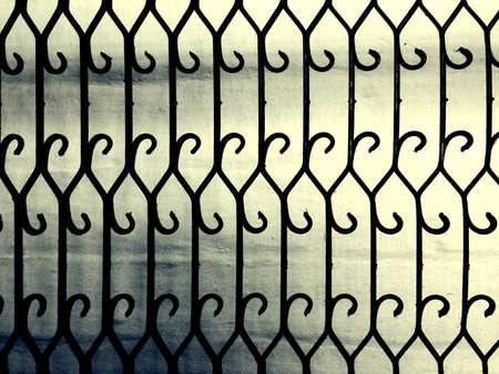 iron: Ornate pattern gateway Stock Photo