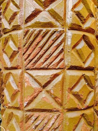 earthen: Earthen geometric diamond pattern